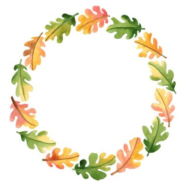 wreath with oak leaves