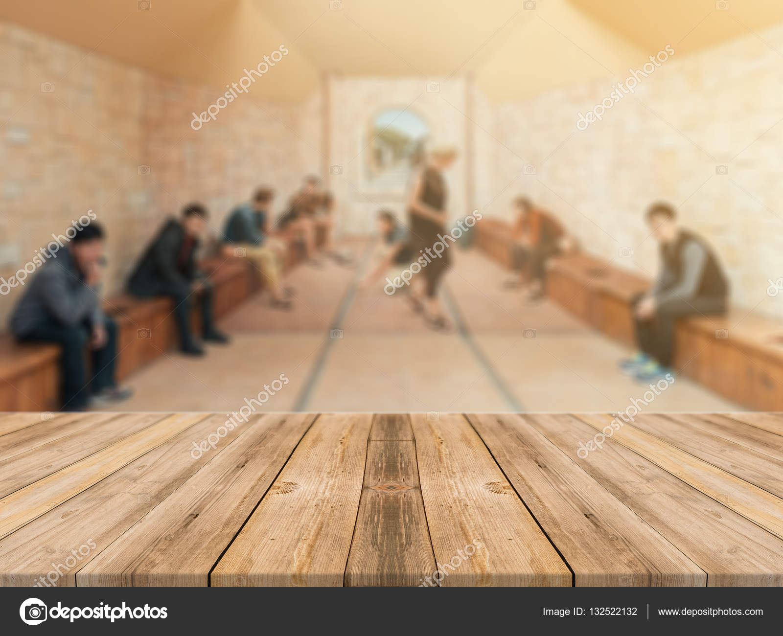 Empty wood table and blurred living room background stock photo - Wooden Board Empty Table Top On Of Blurred Background Perspective Brown Wood Table Over Blur In Coffee Shop Background Can Be Used Mock Up For Montage