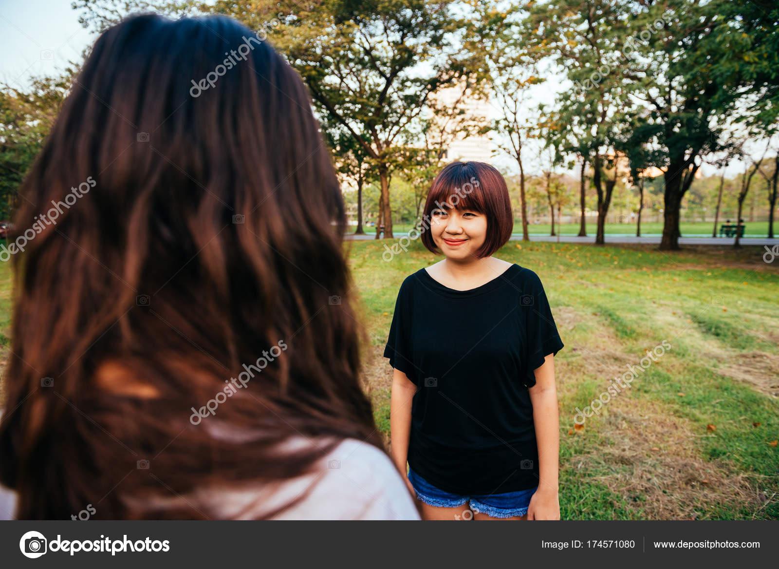 Two Ebony lesbos having fun