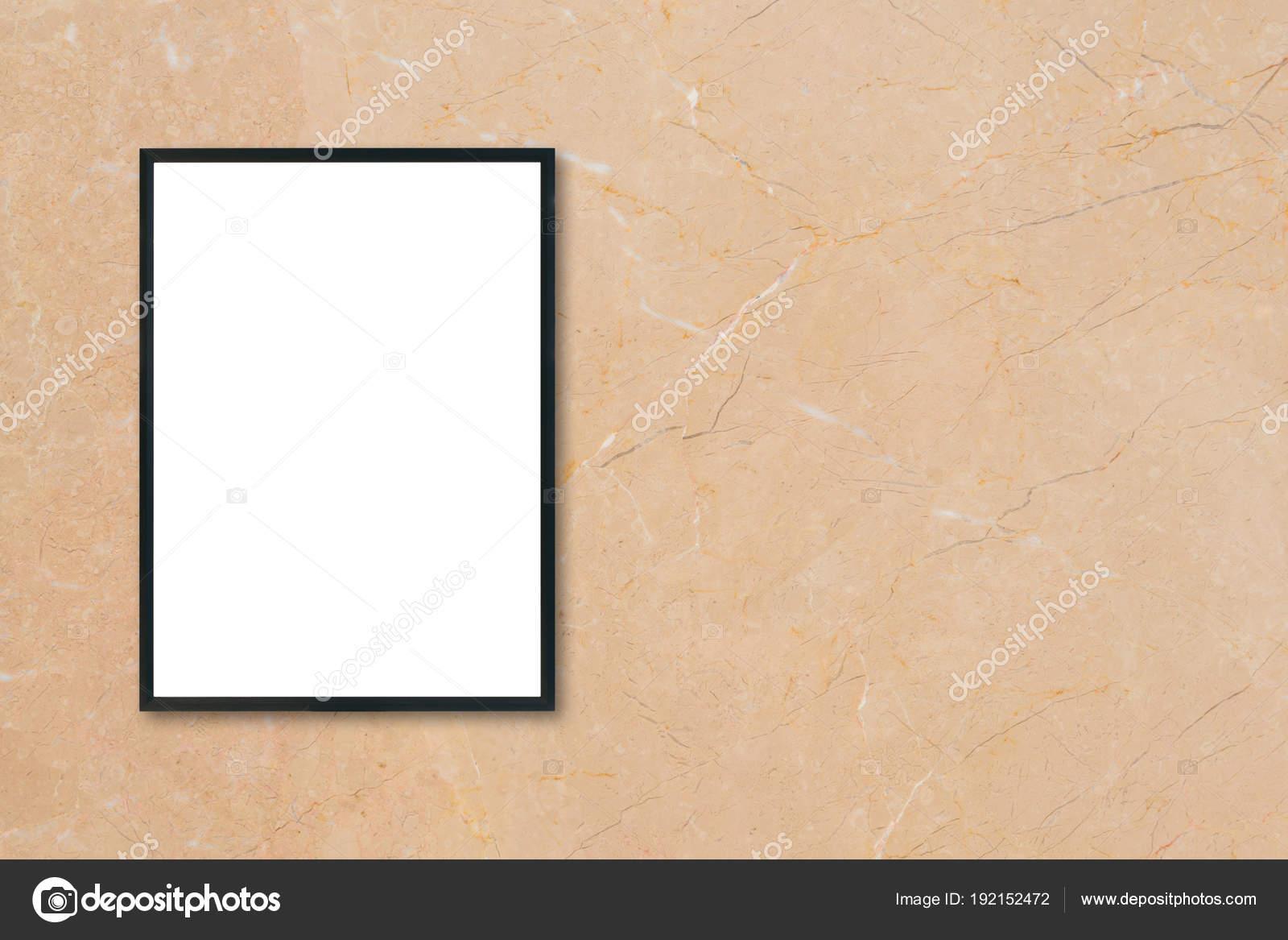 Mock-up leere Plakat Bilderrahmen braun Marmorwand Hintergrund im ...