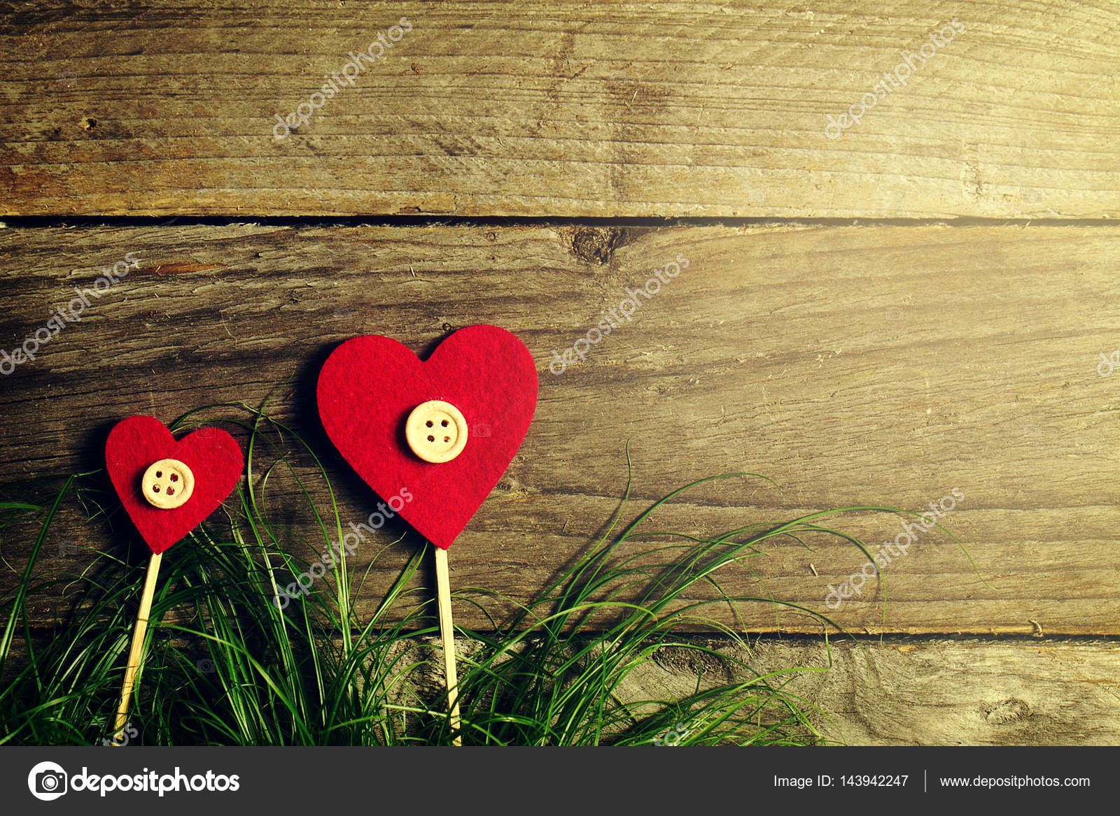 Beautiful hearts flowers on green grass valentines day or love beautiful hearts flowers on green grass valentines day or love concept toning photo by nerudol izmirmasajfo Choice Image