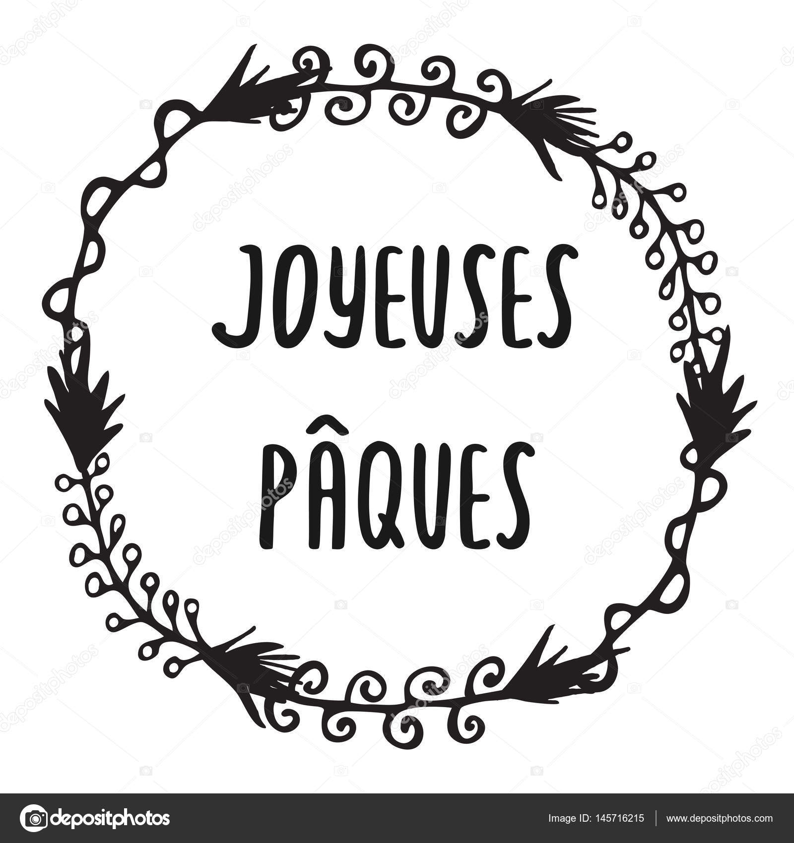 French easter greeting card joyeuses paques stock vector ircy french easter greeting card joyeuses paques stock vector m4hsunfo