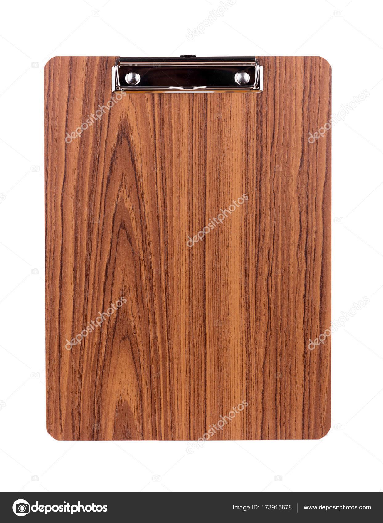 wooden clipboard on white background stock photo nortongo 173915678