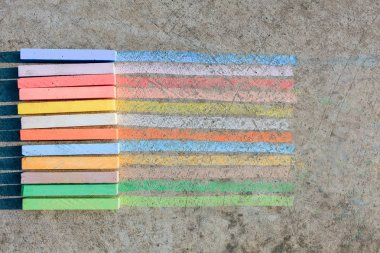 Colorful rainbow chalks