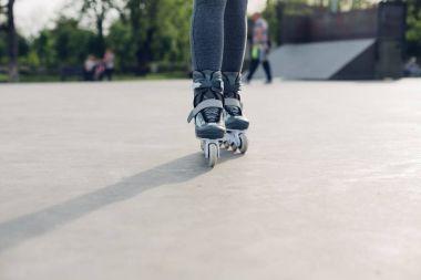 roller girl in skate park