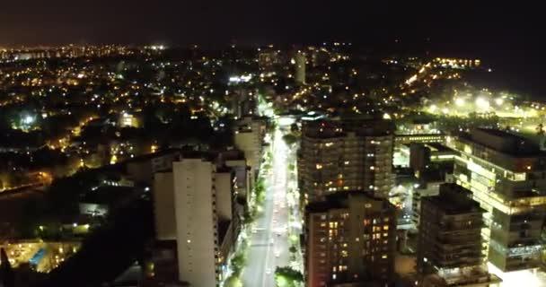 Aerial Avenue Szene spielt mit der Kamerafokus