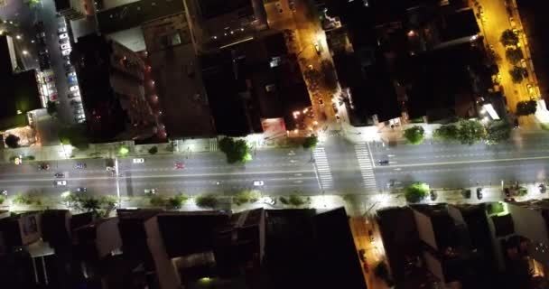 Antenne Cenital Avenue Stadt Nachtszene