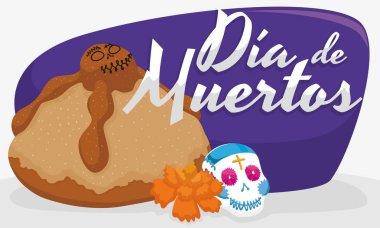 Dead Bread, Sugar Skull and Marigold for