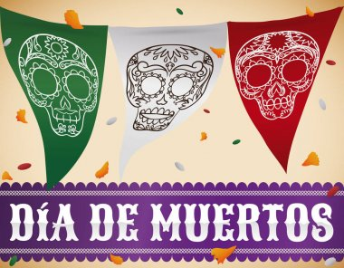 Mexican Bunting with Skulls to Celebrate
