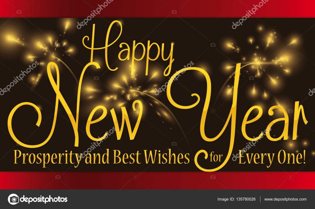 Greeting message for new year with fireworks in the background banner with greeting message for new year celebration with fireworks and sparkles in the background vector by penwin m4hsunfo