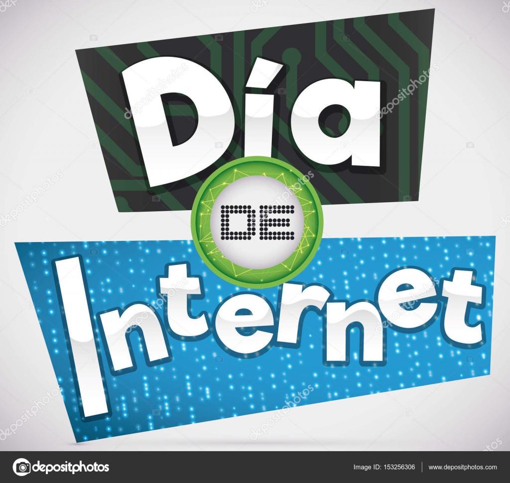 Spanische Tag Internetdesign Binrcodes Mit Platine Vektor Binary Code On Circuit Board Poster With And Placard Design To Commemorate Internet Day Written In Spanish Von Penwin
