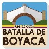 Flaches Design Zum Gedenken an Boyacas Schlacht mit kolumbianischen Boyaca Brücke Wahrzeichen, Vektor-Illustration