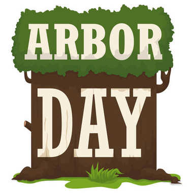 Sign like a Tree to Celebrate Arbor Day, Vector Illustration