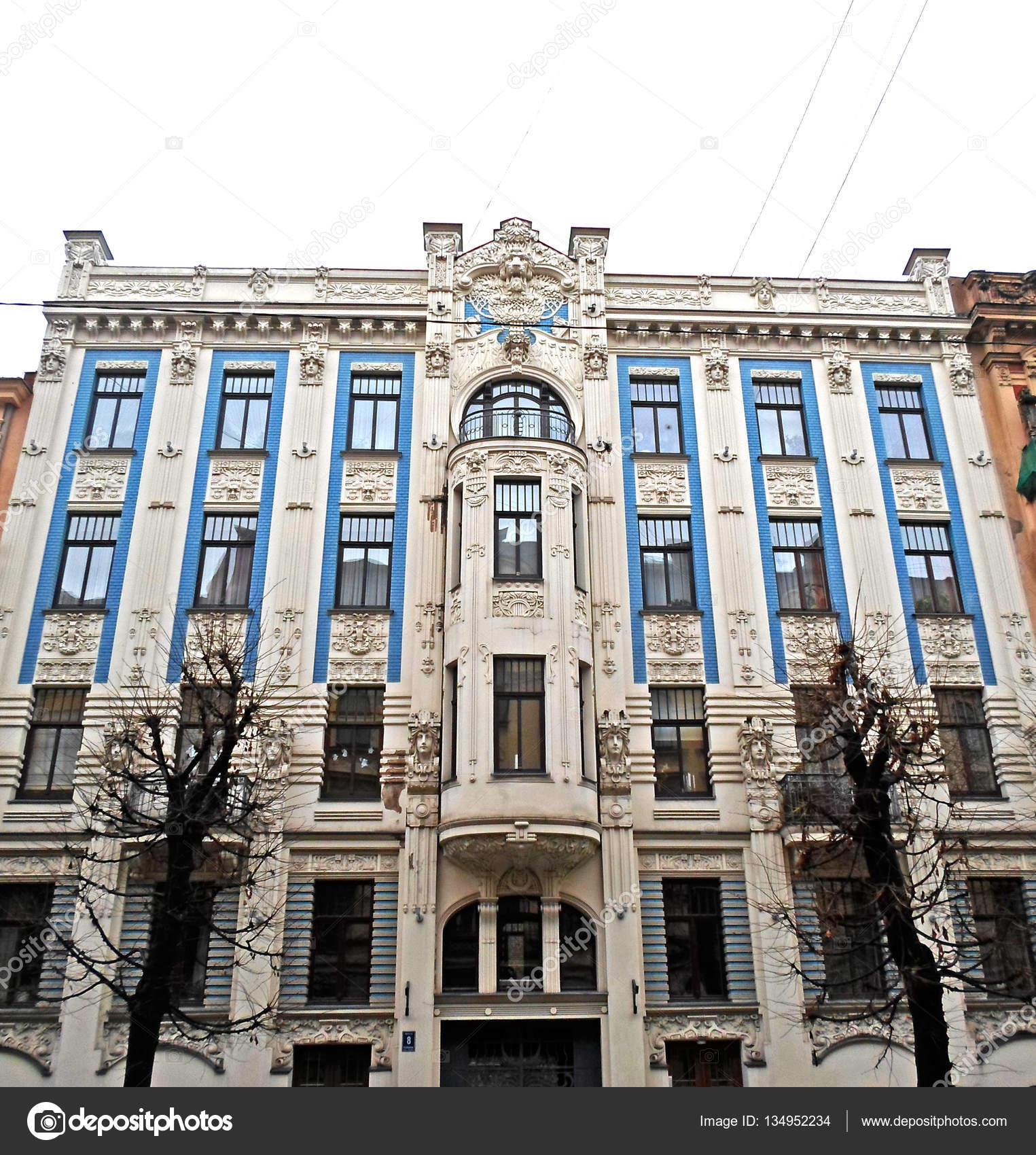 Arquitectura art nouveau en riga fotos de stock - Art nouveau architecture de barcelone revisitee ...