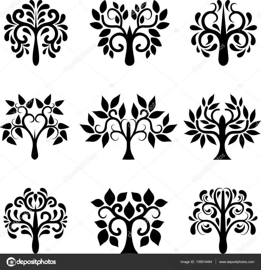 Conjunto de rboles decorativos archivo im genes - Arboles decorativos ...