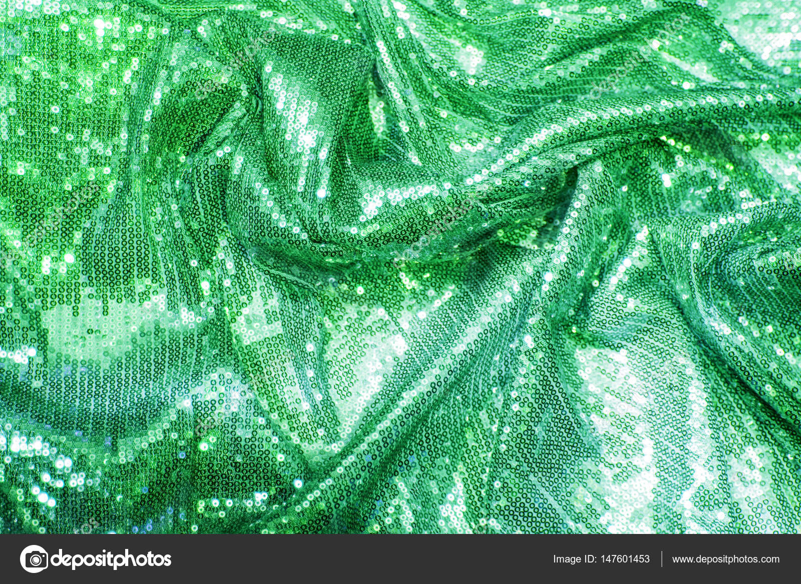 Colorful Luxurious Green Emerald Sea Wave Sequins Background Gold Sparkle Glitter Photo By Andre2013