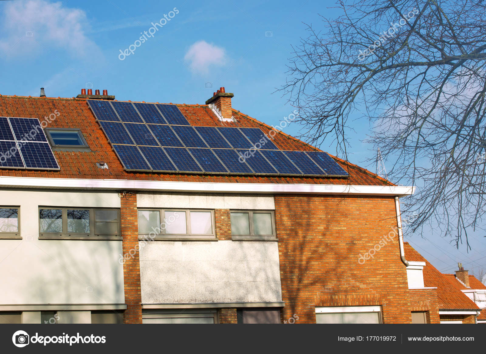 solar panels on a tiled roof — Stock Photo © andre2013 #177019972