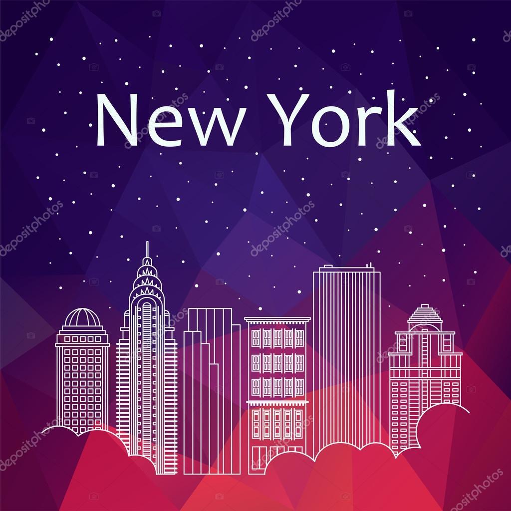 バナー、ポスター、イラスト、ゲーム、背景のニューヨーク — ストック