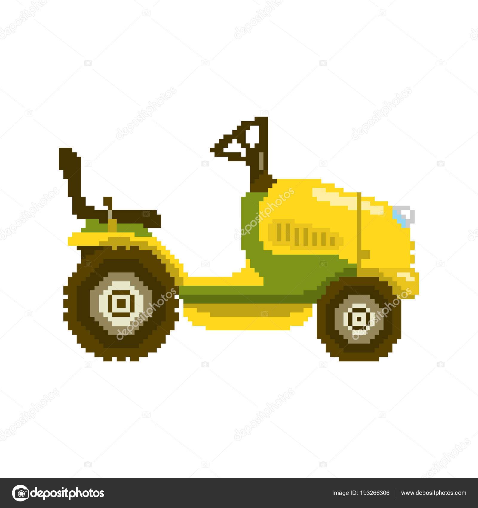 illustration de tracteur de jardin pixel image vectorielle lilkin 193266306. Black Bedroom Furniture Sets. Home Design Ideas