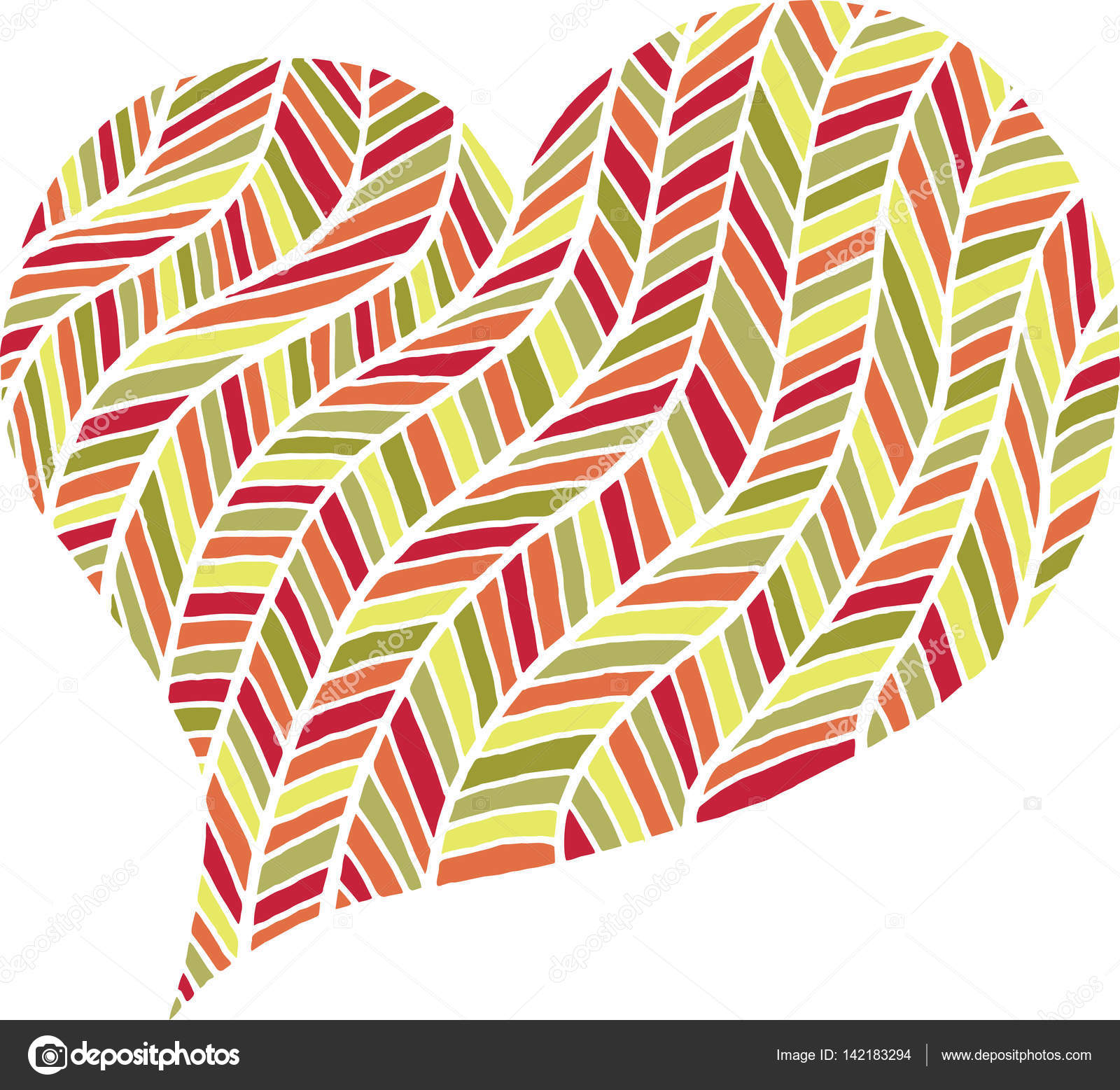 Valentines Day Zentangle Black And White Heart Symbol Stock Photo