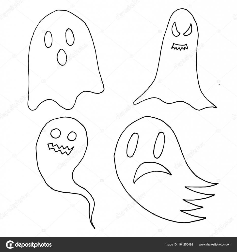 conjunto de personaje de dibujos animados espeluznantes fantasmas de