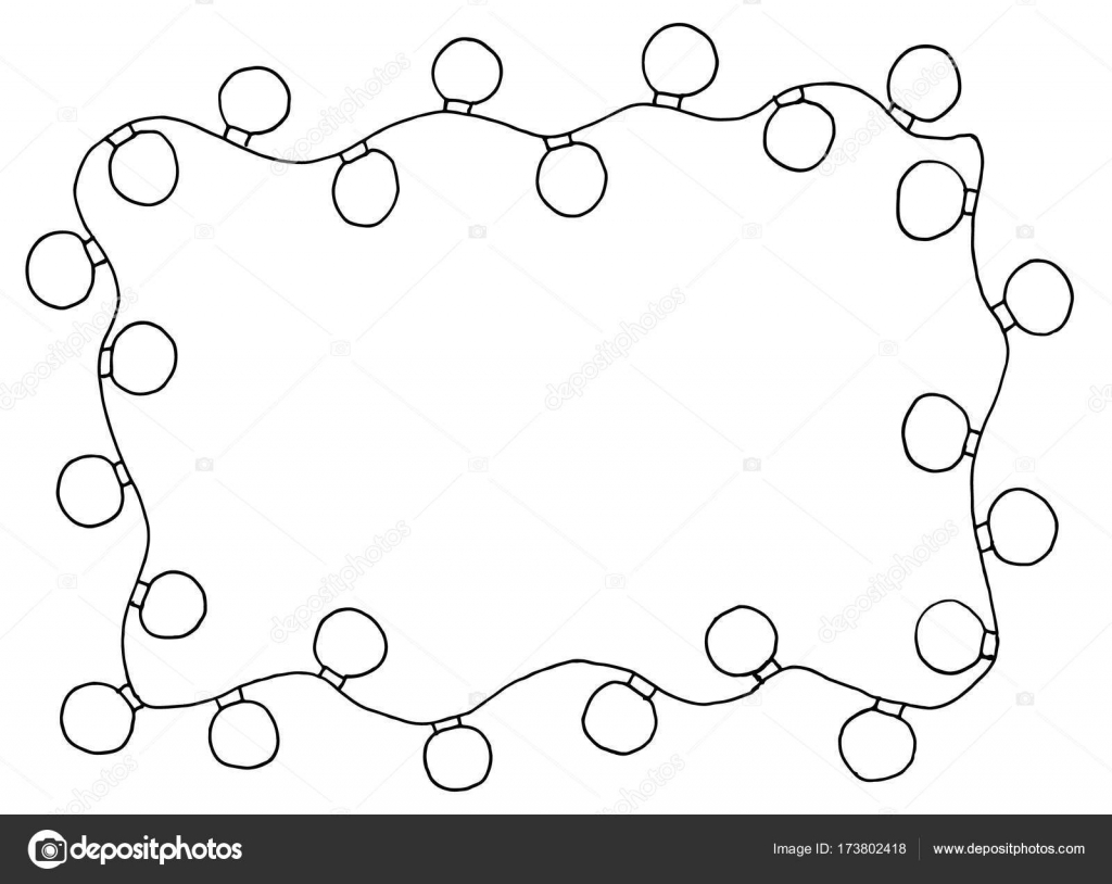sketchy frames illustration hand drawn festive christmas lights stock vector