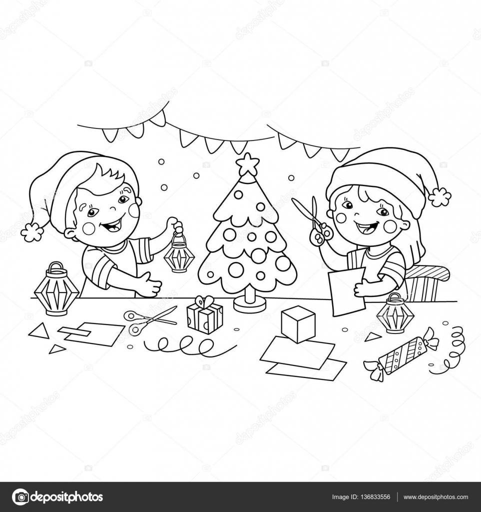 Kleurplaten Van Kerst En Nieuwjaar.Kleurplaat Pagina Overzicht Voor Maken Kinderen Papieren Kerst