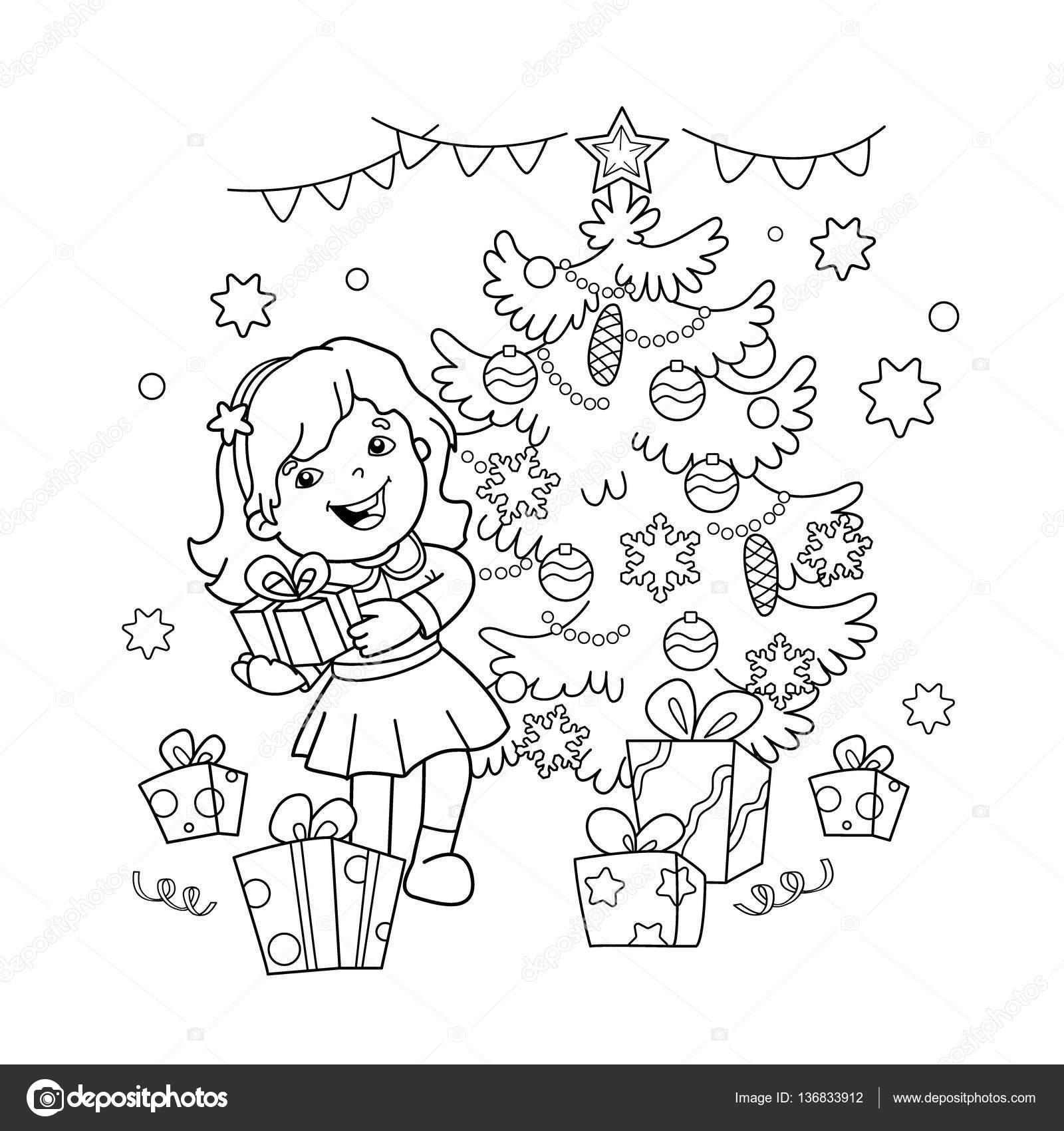 Imágenes Navidad Y Año Nuevo Para Dibujar Para Colorear Esquema