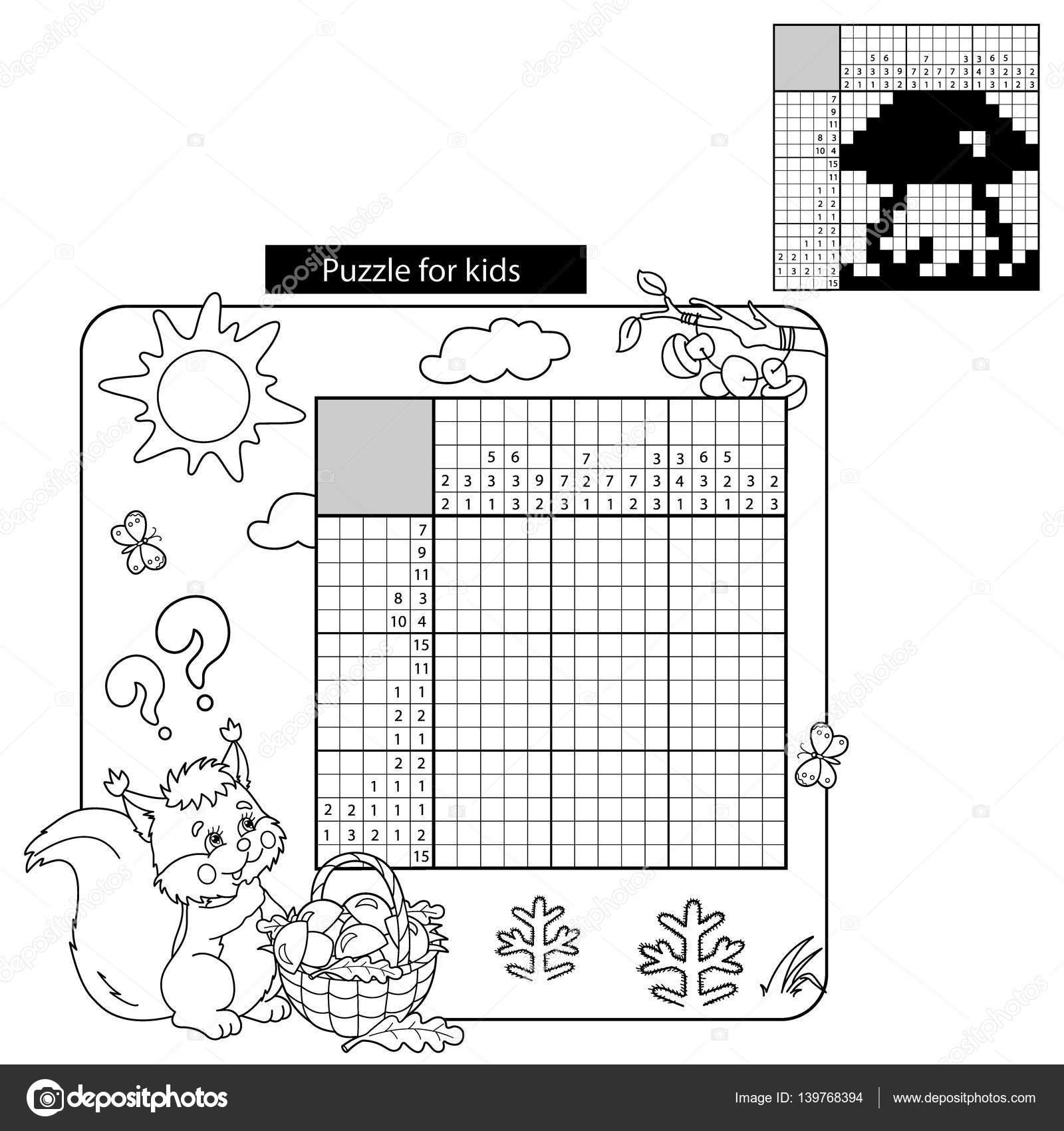 Cartoon Vector Illustratie Van Onderwijs Spel Van Het Raadsel Voor