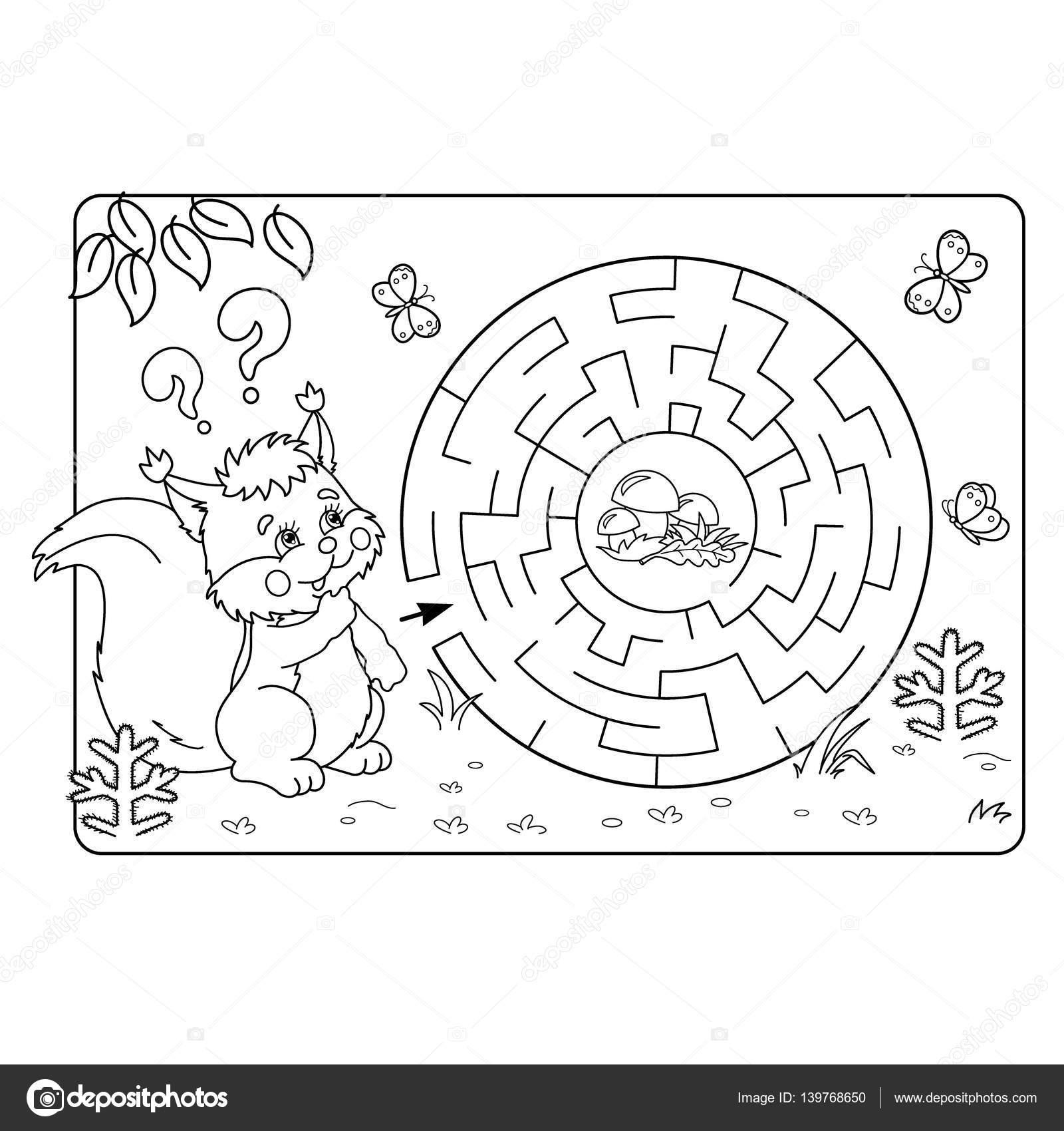 ilustración de Vector de educación Maze o Labyrinth juego para niños ...