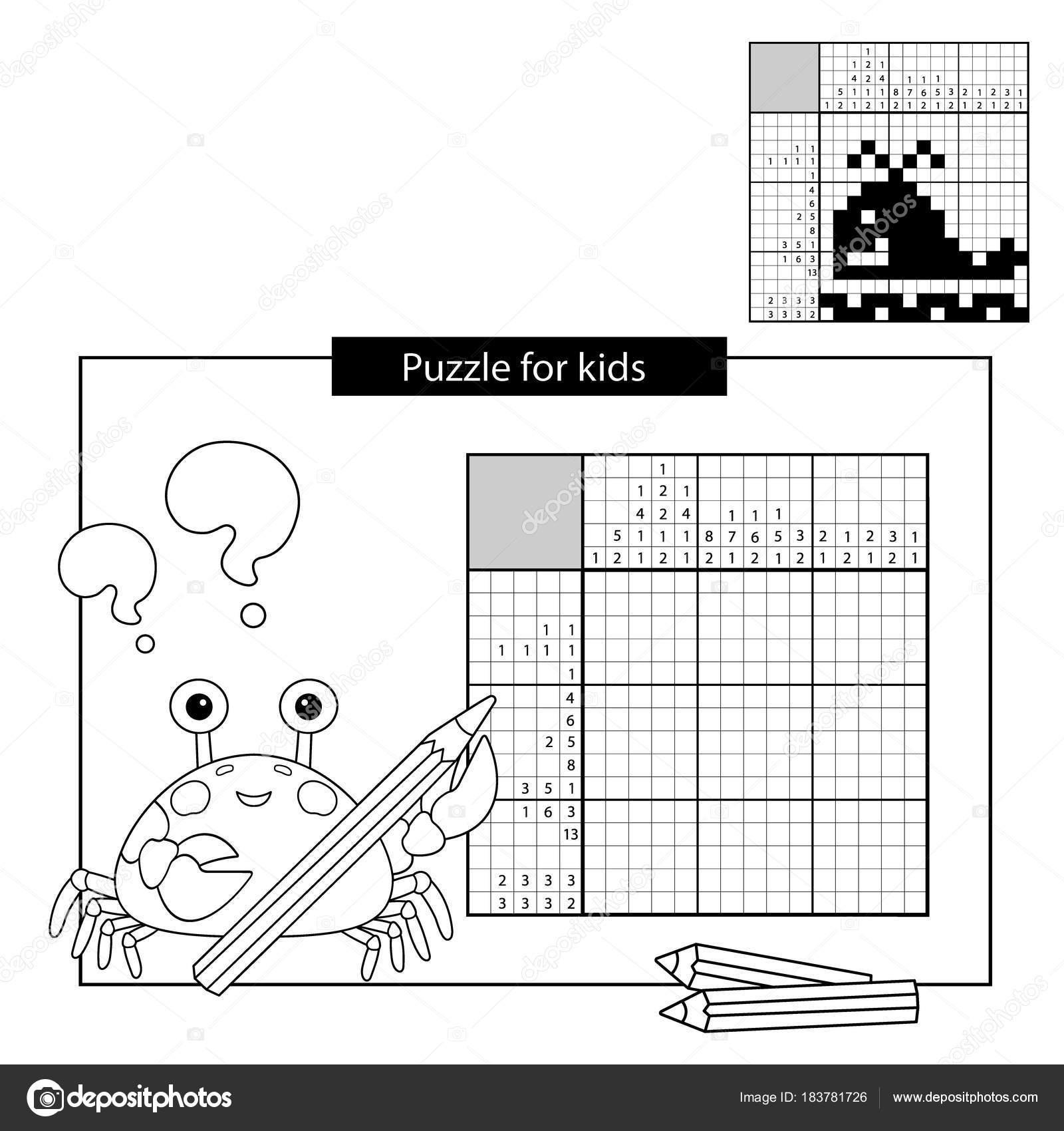 Educación juego de Puzzle para niños. De la ballena. Blanco y negro ...