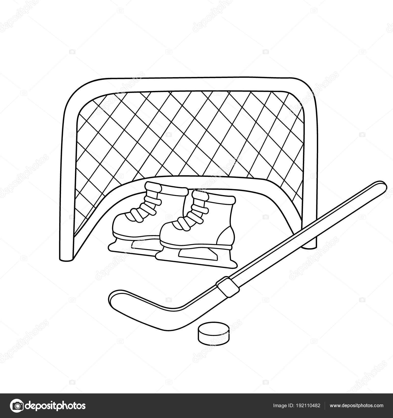 Hockey. Patines. Palo de hockey. Deportes de invierno. Libro para ...