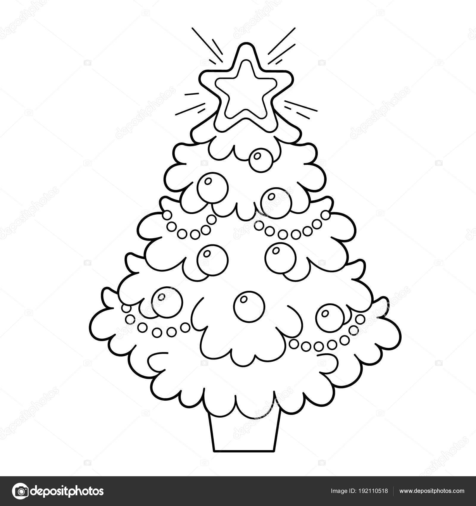 Árvore De Natal Com Enfeites E Presentes. Natal. Ano Novo