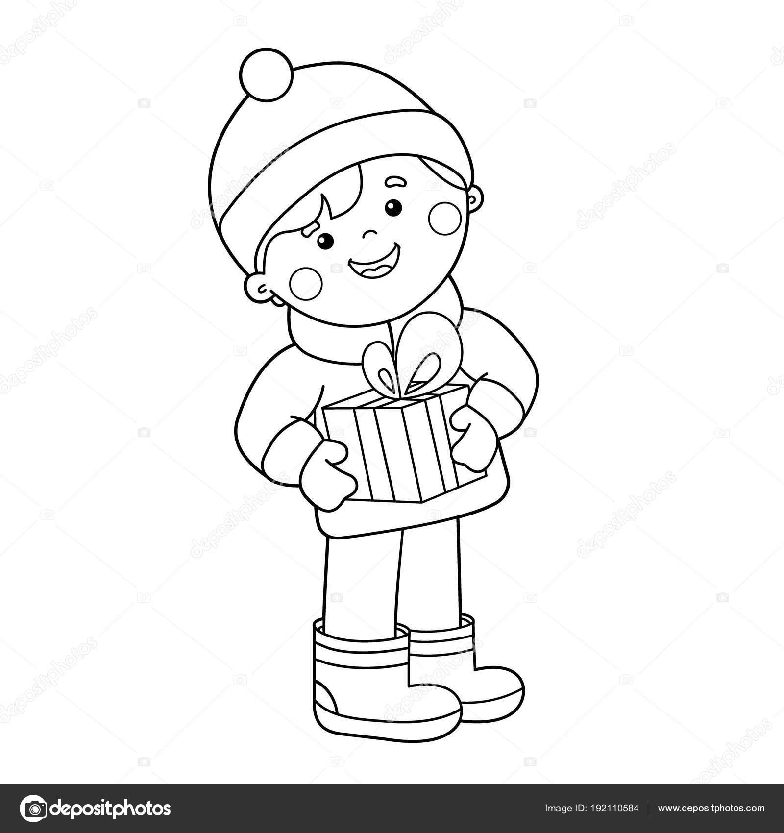 Boyama çocuk Hediye Sayfa Anahat Noel Yeni Yıl çocuklar Için