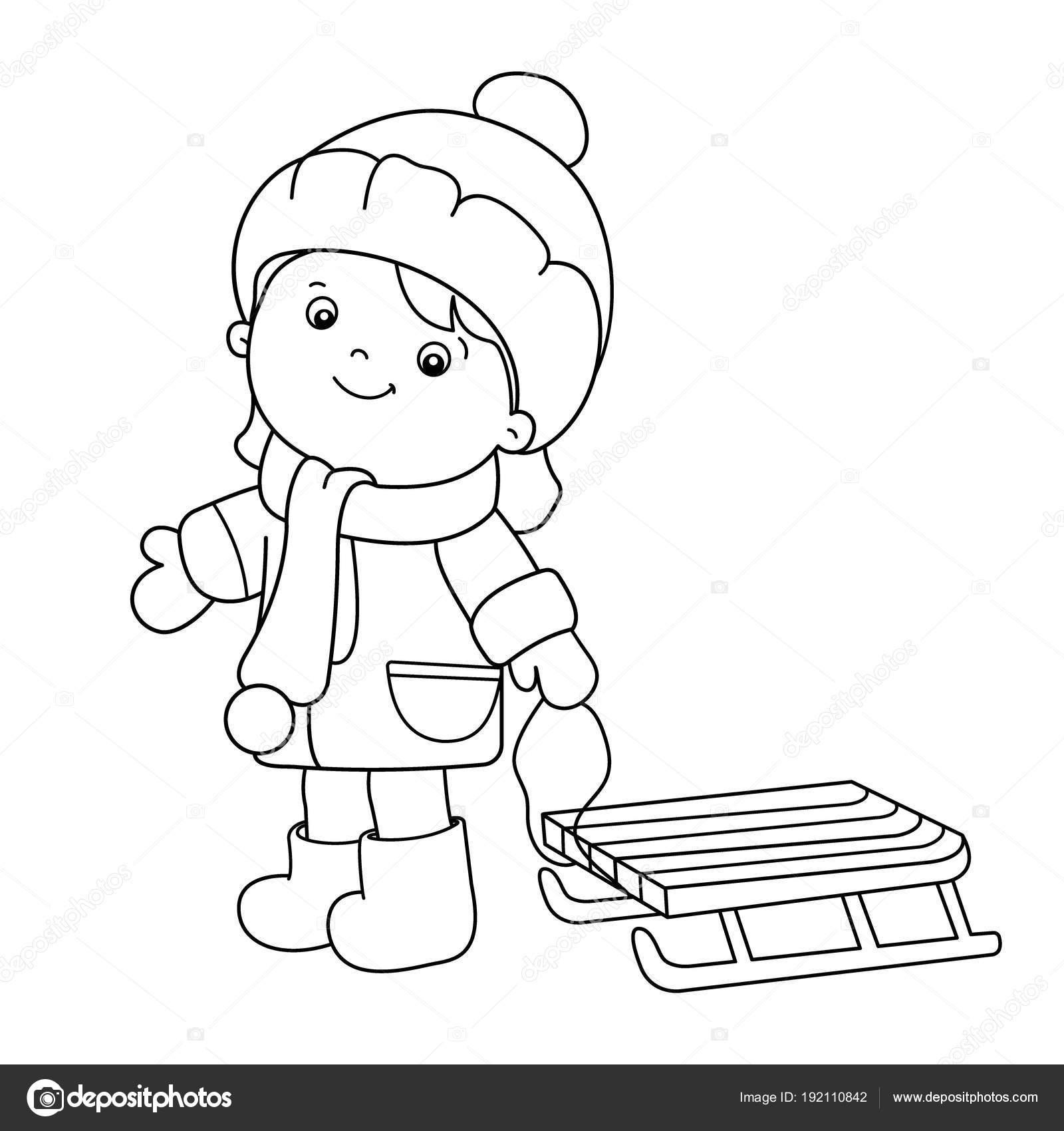 Immagini Disegno Di Una Slitta Per Bambini Disegni Da Colorare