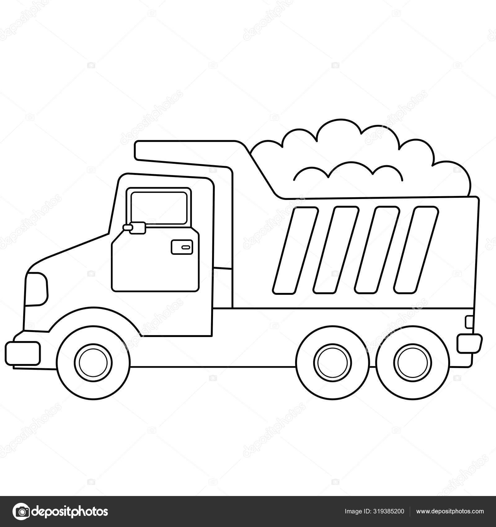 Kleurplaat Overzicht Van Cartoon Vrachtwagen Of Dumper Bouwvoertuigen Kleurboek Voor Kinderen Printen Online Vectorafbeelding Door C Oleon17 Vectorstock 319385200