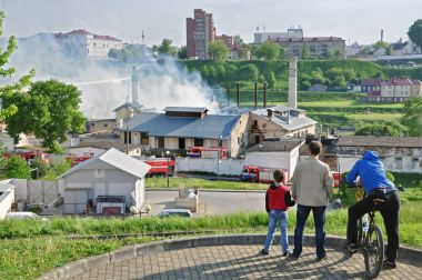 Fire in brewery in Grodno