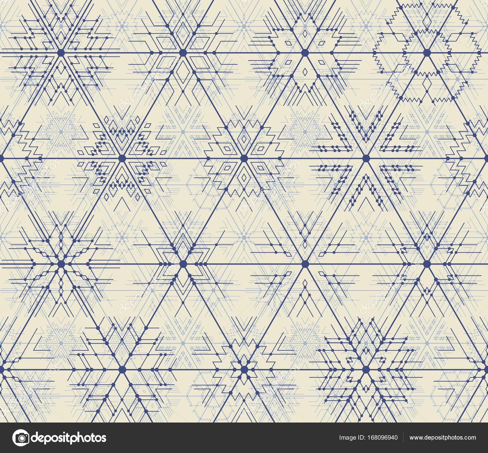 patrones sin fisuras de los copos de nieve geométricas — Archivo ...