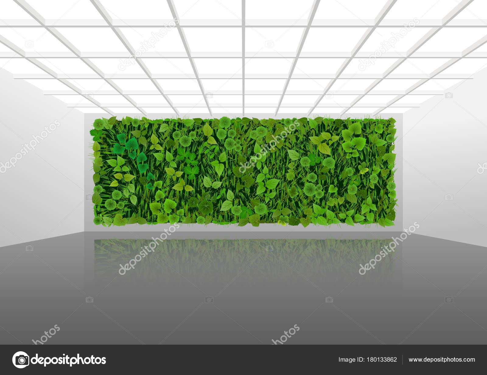 Parete Verde Ufficio : Illustrazione vettore circa abbellimento verticali delle pareti
