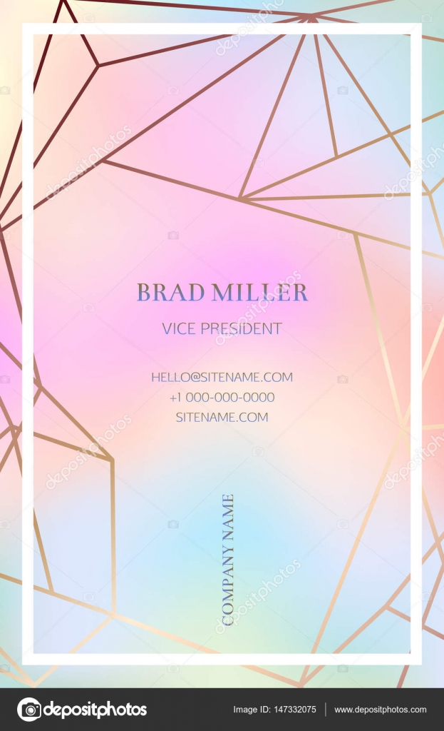 Pink business card with a geometric pattern stock vector pink blush business card with a geometric pattern bronze polygonal texture corporate identity template in vaporwave colors with geometric shapes for wajeb Images