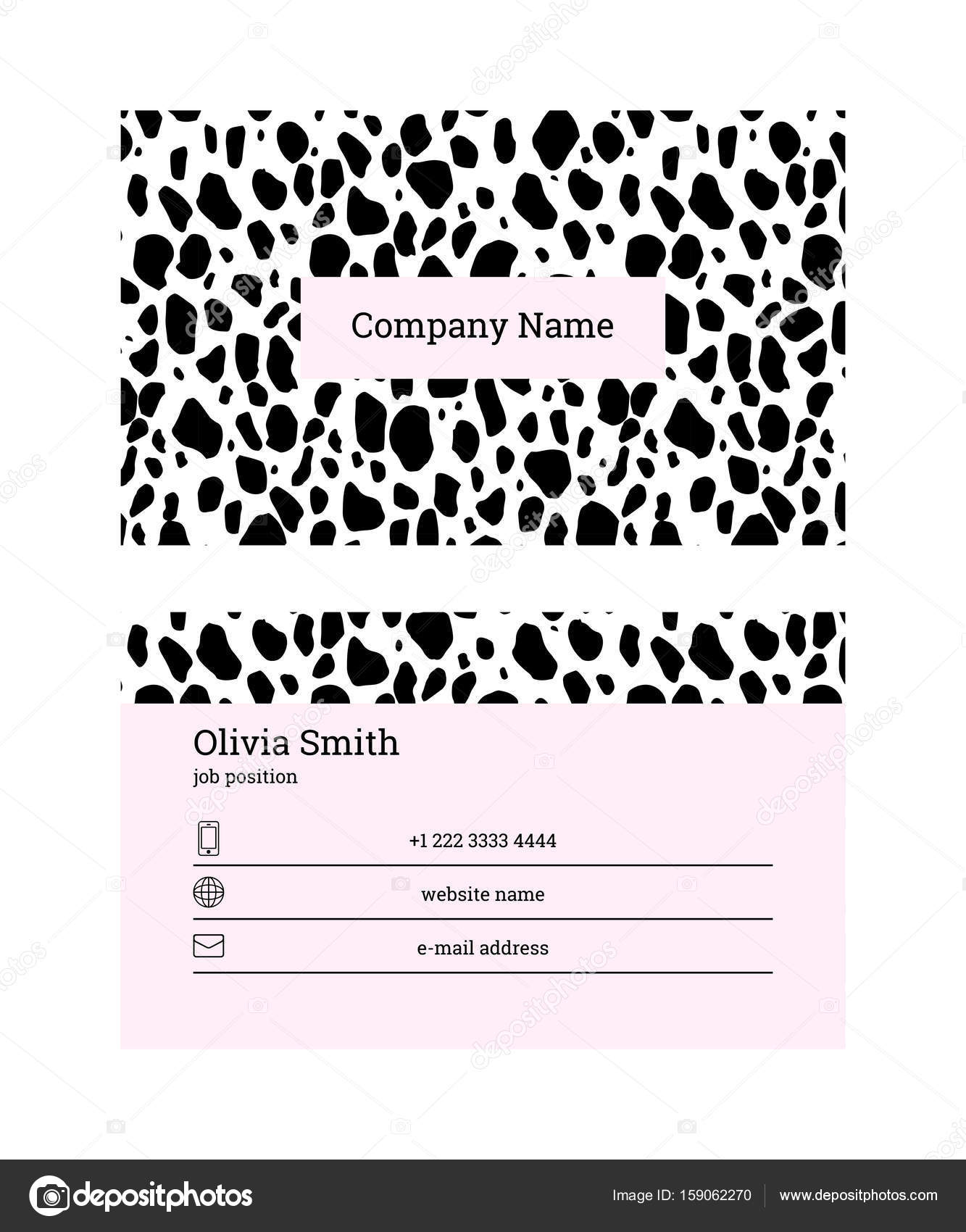 Black and pink business card template stock vector radionastya black and pink business card template stock vector flashek Choice Image