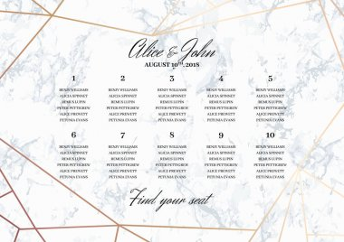 Wedding Seating Chart Poster Template.