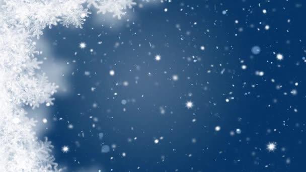 Téli csodaország havazás karácsonyi háttér