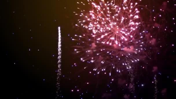 Šťastný Nový rok zlatý ohňostroj pozadí