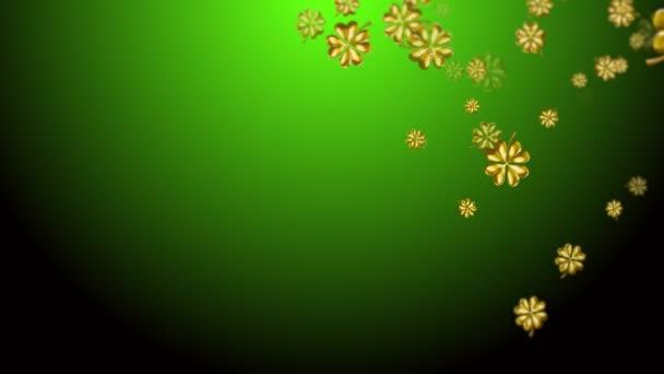 Zelené abstraktní St Patricks den pozadí