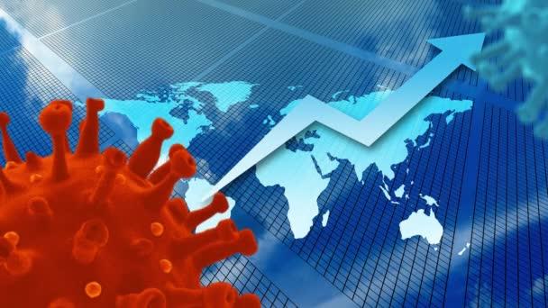 Coronavirus wirtschaftliche Auswirkungen Finanzkrise Konzept