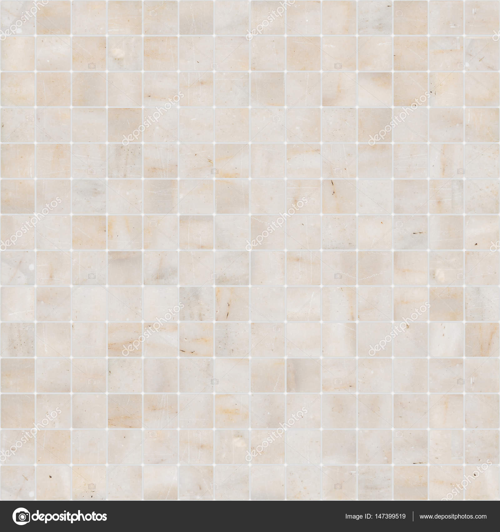 Yellow White Mosaic Marble Tile Texture Seamless Stock Photo