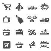 nákupní ikonu nastavit vektor