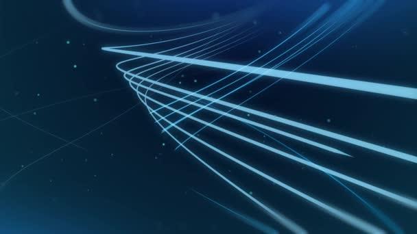 Abstraktní linie pozadí animace lesklé částice stěrka