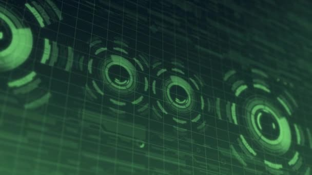Futurisztikus digitális technológia Hud felhasználói felület, a Radar képernyőjén és a futó kód